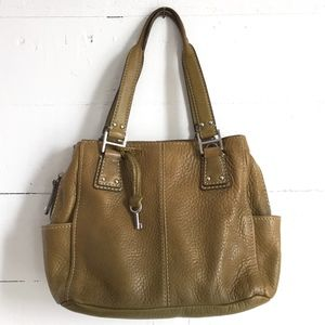 Fossil Bags - Fossil 1954 Pebbled Leather Satchel 75082 Handbag